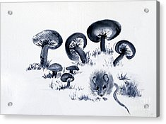 Mouse N Mushrooms Acrylic Print