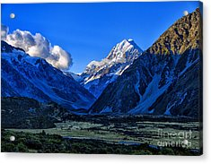 Moutain Valley Acrylic Print by Rick Bragan