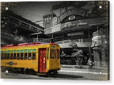 Movico 10 And Trolley Acrylic Print by Marvin Spates