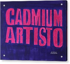 Movie Logo Cadmium Artisto Acrylic Print by Joshua Maddison