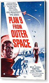 Movie Poster For Plan 9 From Outer Space  Acrylic Print by Celestial Images
