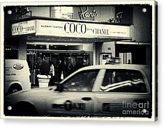 Movie Theatre Paris In New York City Acrylic Print