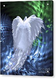 Moving Heaven And Earth Acrylic Print by Cathy  Beharriell
