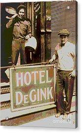 Moving Hotel Degink Acrylic Print by Padre Art