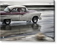 Moving Old Car Acrylic Print