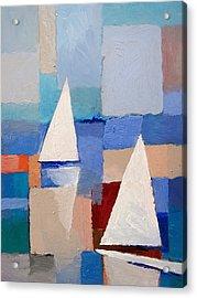 Abstract Sailboats Acrylic Print