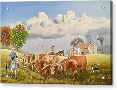 Moving The Herd Acrylic Print