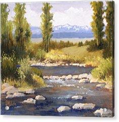 Moyie River Acrylic Print by Dalas  Klein