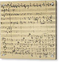 Mozart: Requiem Excerpt Acrylic Print by Granger