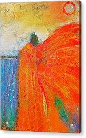 Mprints - Angel Of The Morning Acrylic Print by M Stuart