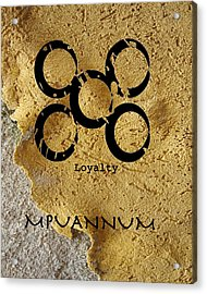Mpuannum Adinkra Symbol Acrylic Print by Kandy Hurley