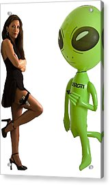 Mr. And Mrs Alien Acrylic Print