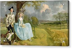 Mr And Mrs Andrews Acrylic Print by Thomas Gainsborough