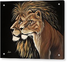 His And Her Majesty Acrylic Print by Adele Moscaritolo