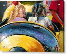 Mr. Bee Takes Some Friends For A Ride Acrylic Print