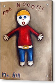 Mr. Bill Acrylic Print by Leah Saulnier The Painting Maniac