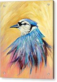 Mr. Blue Acrylic Print by Patricia Piffath
