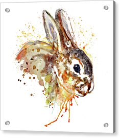 Acrylic Print featuring the mixed media Mr. Bunny by Marian Voicu