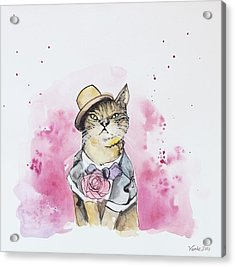 Mr Cat In Costume Acrylic Print