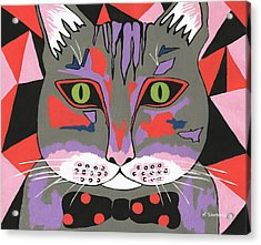 Mr Cat - Cute Animals Acrylic Print