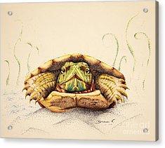Mr. Flo Acrylic Print by Katharina Filus
