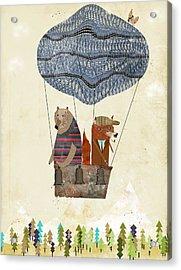 Mr Fox And Bears Adventure  Acrylic Print