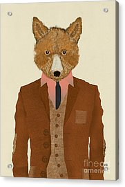 Acrylic Print featuring the painting Mr Fox by Bri B