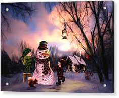 Mr. Frosty Acrylic Print