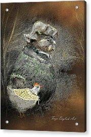 Mr. Groundhog And Miss Chick Acrylic Print