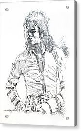 Mr. Jackson Acrylic Print by David Lloyd Glover