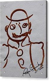 Mr Leopold Bloom Acrylic Print by Roger Cummiskey