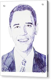 Mr. President Acrylic Print by Benjamin McDaniel