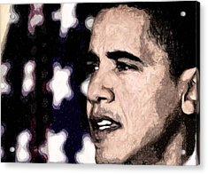 Mr. President Acrylic Print by LeeAnn Alexander