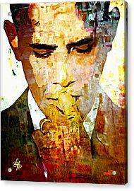 Mr. President Acrylic Print by Lynda Payton