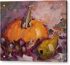 Mr. Pumpkin And His Buddies Acrylic Print