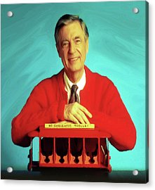 Mr Rogers With Trolley Acrylic Print