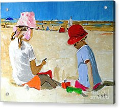 Acrylic Print featuring the painting Mr. Sandman by Judy Kay