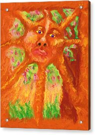 Acrylic Print featuring the painting Mr Sun by Shelley Bain