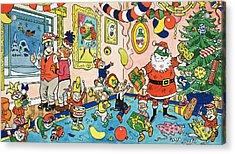Mr Toads Christmas Party Acrylic Print by English School