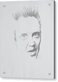 Acrylic Print featuring the mixed media Mr. Walken by TortureLord Art