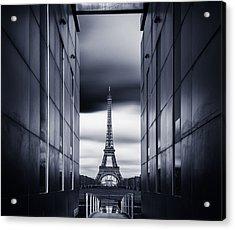 Mrs Eiffel Acrylic Print by Charly Lataste