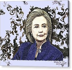 Mrs Hillary Clinton Acrylic Print