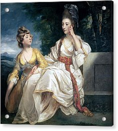 Mrs Thrale And Her Daughter Hester Acrylic Print by Sir Joshua Reynolds