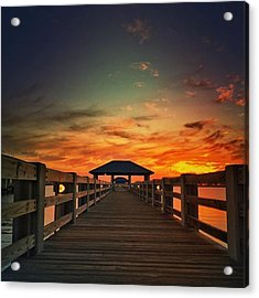 Ms Gulf Coast Sunset💖 #visitms Acrylic Print