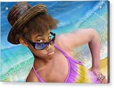 Ms. Sophie D Acrylic Print by Reggie Duffie