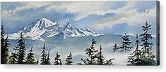 Mt. Baker Mist Acrylic Print by James Williamson