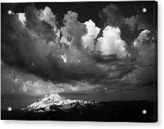 Mt. Baker Thunderstorm. Acrylic Print by Alasdair Turner