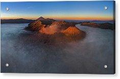 Acrylic Print featuring the photograph Mt Bromo Sunrise by Pradeep Raja Prints