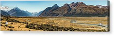 Acrylic Print featuring the photograph Mt Cook And Tasman River  by Gary Eason