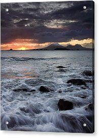 Mt. Edgecumbe Sunset Acrylic Print by Mike  Dawson